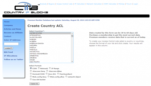 CIPB Create Country ACL