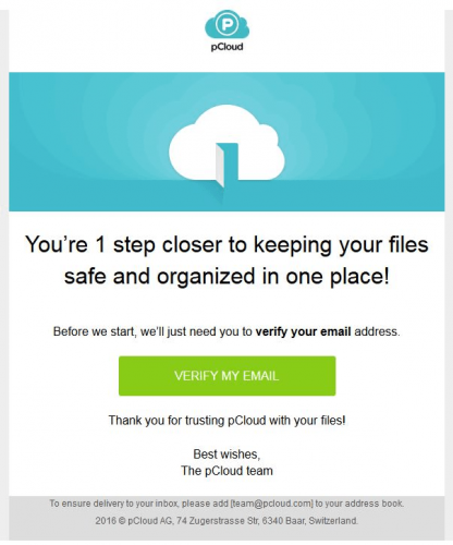 pCloud-email
